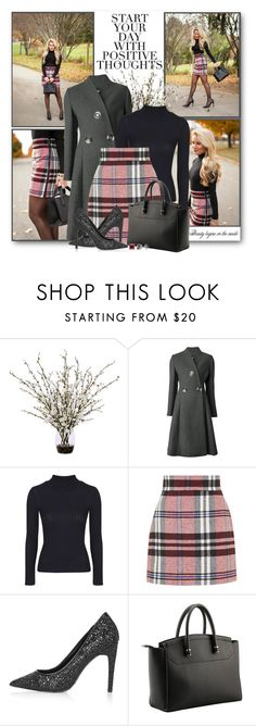 """Plaid Skirt & Glitter Pumps"" by brendariley-1 ❤ liked on Polyvore featuring Blonde Ambition, Lux-Art Silks, STELLA McCARTNEY, Topshop and BERRICLE"