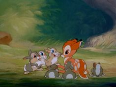 bambi, disney, and cute image Old Disney, Disney Fan Art, Disney Love, Arte Disney, Disney Magic, Bambi And Thumper, Bambi 3, Disney Phone Wallpaper, Walt Disney Animation