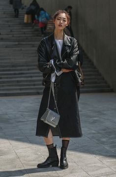 Classic all black | Undone and Cool | Leather Jacket | Louis Vuitton | HarperandHarley