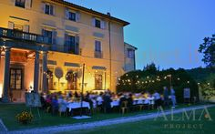 ALMA PROJECT @ Maiano - Light BULBS string fairy palo country dinner terrace facade uplights amber