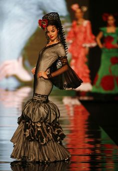 Pepa Castro designer at the International Flamenco Fashion Show in Seville January 29, 2009.