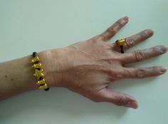I like My new simple Bracelet and ring is combination pure gold ...