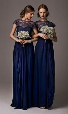 short sleeve lace bridesmaid dresses, navy bridesmaid dresses, custom bridesmaid dresses, modest bridesmaid dress