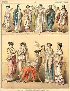 historical greek fashions, unknown dates