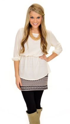 Ahhdorable peplum top with gold buttons down the back!  $42 at shopbluedoor.com