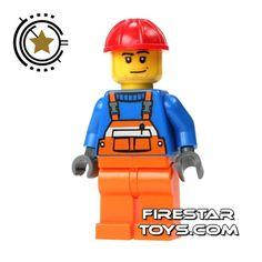 LEGO City men | LEGO City Mini Figure - Construction Worker Stubble | Male City LEGO ...