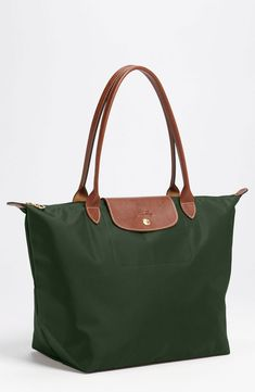 Longchamp Le Pliage Large Tote in Fir $145. The colour is perfect for rainy days!