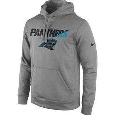 ab01245247f Men s Carolina Panthers Nike Gray Lockup Pullover Performance Hoodie