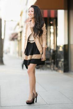(via Pink Umbrella :: Blush leather & Beige details: Wendy's Lookbook)
