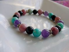Anxiety Bracelet Multi Stones for Soothing and Calming by CherylsHealingGems, $28.00. FREE US SHIPPING!