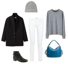 Winter white on Camp Comfort--one of my favorite blogs.  LOVE the blue bag from J. Crew.