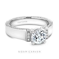 Breathtaking from every angle. Take a closer look at this Noam Carver beauty: http://bit.ly/1CshiJD  Noam Carver white gold diamond engagement ring.