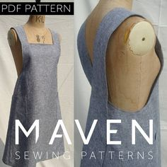 The Maria Wrap Apron is a PDF sewing pattern by Maven Patterns. This pattern is … The Maria Wrap Apron Sewing Hacks, Sewing Tutorials, Sewing Crafts, Sewing Tips, Sewing Ideas, Tutorial Sewing, Sewing Basics, Sewing Aprons, Sewing Clothes