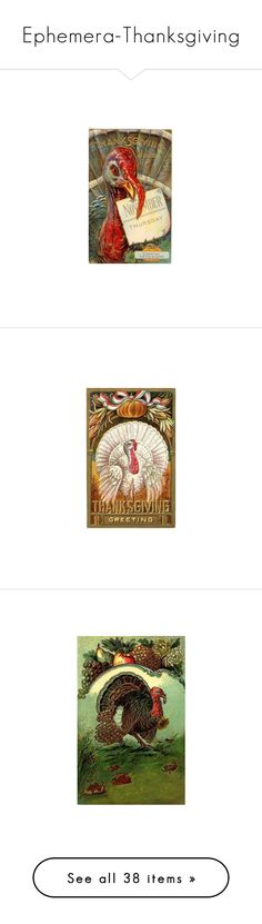 """""""Ephemera-Thanksgiving"""" by shelley-harcar ❤ liked on Polyvore featuring home, kitchen & dining, post card, vintage post card, vintage postcards, home decor, stationery, thanksgiving, native american and indian"""