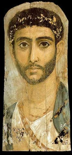 roman portrait painting | Roman Era Funerary Portrait Painting