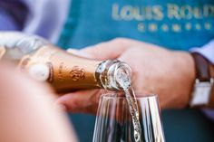 Wine & Spirits Magazine's 9th Annual Top 100 Event, some Louis Roederer Cristal being poured.