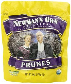 (Pack of 6) Organic California Prunes - Newman's Own Organics 6-Ounce Pouches ** Learn more by visiting the image link.