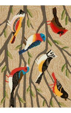 Frontporch Outdoor Birds Rug