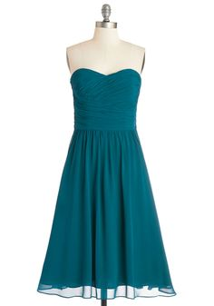 Luminous and Lovely Dress in Peacock. $239.99 #wedding #bridesmaid #modcloth - The price is steep, but I like this style as a bridesmaid dress.
