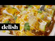 Best Zucchini Enchiladas Recipe - How to Make Zucchini Enchiladas
