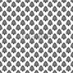 damask monochrome black and white damaged fabric seamless pattern 12x12 inch