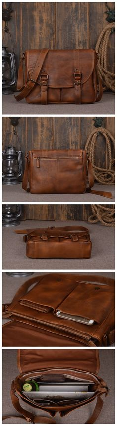 Good Quality Men's Messenger Bags Genuine Leather Travel Bag Luxury Outdoor Camping Style Bags
