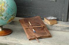Leder notizbuch /notizblock/ Übungsbuch von LADYBUQ ART STUDIO auf DaWanda.com