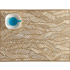 Drift Table Mat in Brass design by Chilewich