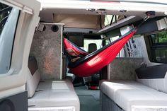 Hammock in a Sportsmobile