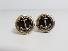 Vintage Cuff Links: Swank Anchors by FairSails on Etsy