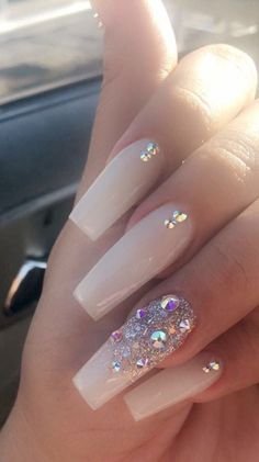 Graduation Nails Designs for 2019 - Anali Gomez - # for . - graduation nails designs for 2019 – anali gomez – – – - Gorgeous Nails, Pretty Nails, Hair And Nails, My Nails, Gems On Nails, Long Gel Nails, Graduation Nails, Graduation Necklace, Nagel Bling