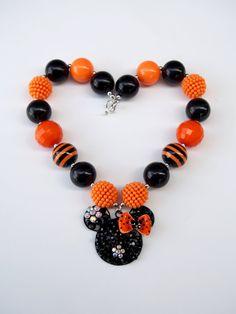 Halloween Minnie Necklace  Halloween by MarcelinesWonderland, $18.00