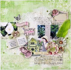 HAPPYPLACE - My Creative Scrapbook LE kit July 2015~- Yuko Tanaka - Prima - Garden Fable Collection