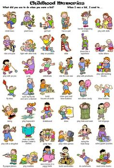 Action Verbs in English: Childhood Memories English Verbs, Kids English, English Phrases, English Study, English Lessons, English Grammar, Learn English, Grammar And Vocabulary, English Vocabulary