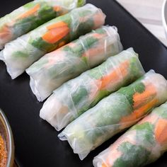 Fresh Rolls, Food And Drink, Cooking Recipes, Vegetarian, Snacks, Meals, Baking, Ethnic Recipes, Spring Rolls