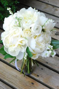 White Peony, Lily of the Vally, Bridal Bouquet - Avenue Blooms | Fort Collins, CO