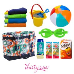 The Easy Breezy Tote makes the perfect pool bag! It holds all of your essentials and all of their essentials for a busy, fun day!  50% off in March 2014 too!!