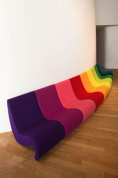 Verner Panton Sofa #coloreveryday cute in the movie/sm theater room