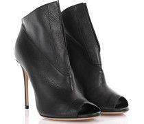 Casadei Ankle Boots Peeptoe Daytime Leder schwarz