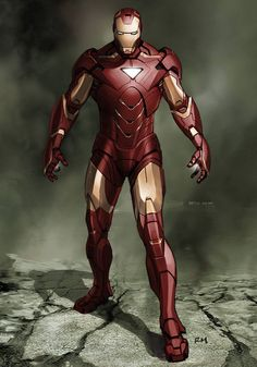"Iron Man Mark VII suit concept design for ""Marvel's the Avengers"" by Ryan Meinerding"