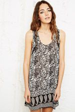 Staring at Stars Sheer Lace Slip in Floral Print at Urban Outfitters