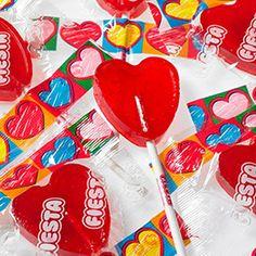 Sucette en forme de coeur pour amoureux !