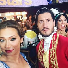 DWTS Season 22 / Disney night!  Ginger and Val with Sharna photobombing lol