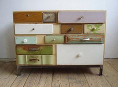 Strange and interesting concept. I've always liked pharmacy chests with those tiny drawers. Maybe I just like drawers.