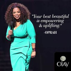 Inspire to aspire. Oprah Winfrey Network, Own Quotes, Olay, Wrap Dress, Actresses, Actors, Beautiful, Women, Healthy Living