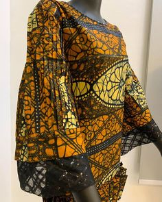 Notice the pleated sleeves? African Fashion Dresses, Ankara Styles, Skirt Set, Kimono Top, Photo And Video, Videos, Sleeves, Photos, Tops