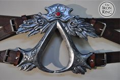 Assassin's Creed II belt, Ezio Auditore, for cosplay in resin, iron and leather