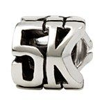 I want this!!! Maybe I can earn some of the bigger distances someday too...? Sterling Silver 5K Marathon Bead