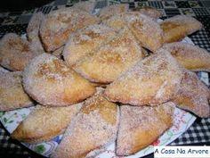 Doces da 'epoca: azevias de batata doce - Receita Petitchef Dessert Recipes, Desserts, Cooking Tips, Tasty, Sweets, Sugar, Bread, Algarve, Christmas
