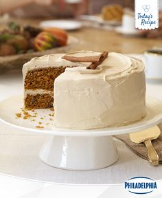 You'll love the Pumpkin-Carrot Cake, but it's the cream cheese and brown sugar icing that'll have you coming back for seconds. And with its simple ingredients, this easy recipe can impress family and friends alike this Thanksgiving holiday.